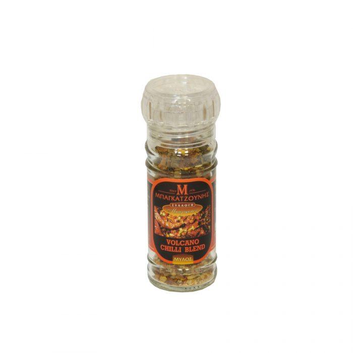 Καυτερό μείγμα μπαχαρικών - Volcano Chilli Blend σε μύλο